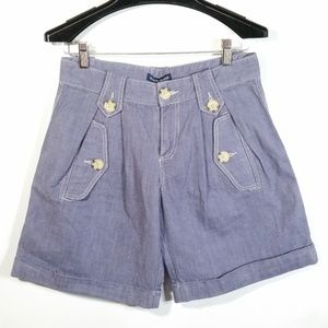 New Pleated Cuffed Shorts Marching Band Style NWT